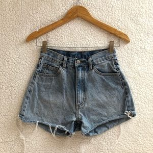 Brandy Melville high waisted denim Charlotte short